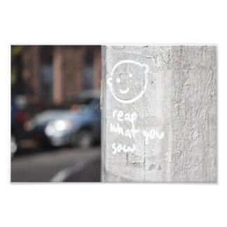 Colha o que você semeia a foto NYC dos grafites da