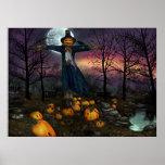 Colheita de Halloweens - poster do espantalho