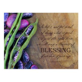 Colheita do cartão da bênção