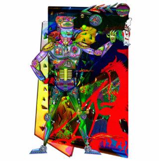 Colheita pronta do robô do homem de Digitas da rua Escultura De Fotos