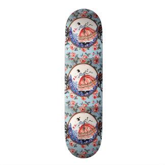 colhendo flores de imagem de menina shape de skate 20cm