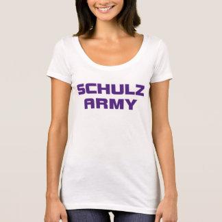 Colher branca N do roupa americano das mulheres do Camiseta