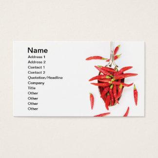 Colher dos pimentões cartão de visitas