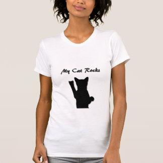 Colher ocasional das senhoras do gato de Rockin T-shirt