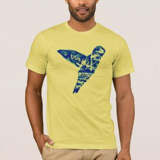 Colibri amarelo dos grafites camiseta