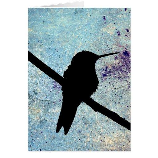 Colibri do Grunge, aniversário alemão Cartao