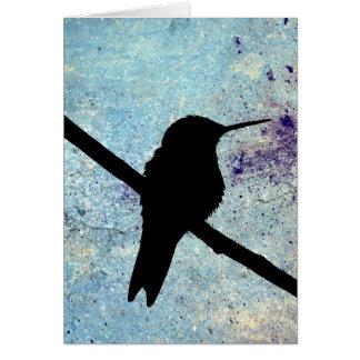 Colibri do Grunge, aniversário alemão Cartão Comemorativo