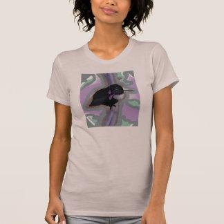 Colibri superior da forma no malva para mulheres camisetas