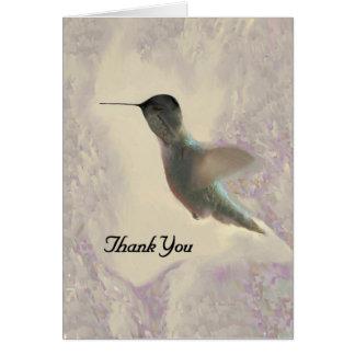 Colibri vazio dos cartões de agradecimentos