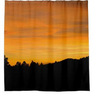 Colinas da pradaria na fotografia do por do sol cortina para chuveiro