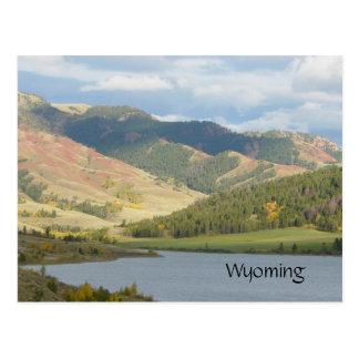 Colinas vermelhas do cartão de Wyoming