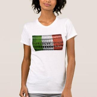 Coliseu da bandeira de Roma Italia Camisetas
