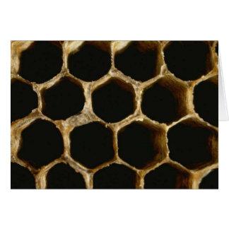 Colmeia da abelha cartão