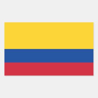 Colômbia/bandeira colombiana adesivos retangular