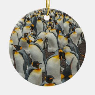 Colônia do pinguim de rei, Malvinas Ornamento De Cerâmica