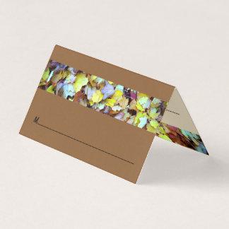 Coloque o cartão para a coleção das folhas da
