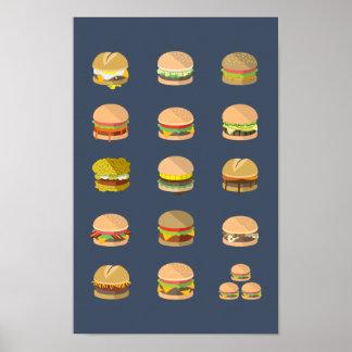 """Coloque o guia aos hamburgueres - poster 11"""" x 17"""""""
