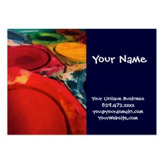 Colora a arte da aguarela das caixas da pintura da cartão de visita grande