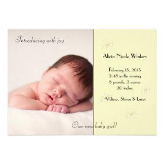 Colora-me anúncio macio do nascimento da foto convites personalizados