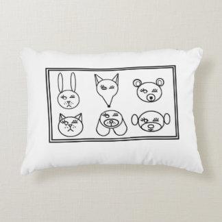 Colora-me travesseiro do design - animais de Emoji Almofada Decorativa