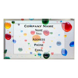 Colora minhas gotas brilhantes da pintura do mundo cartao de visita