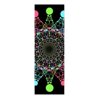 Colora o mini marcador da estrela cartão de visita skinny
