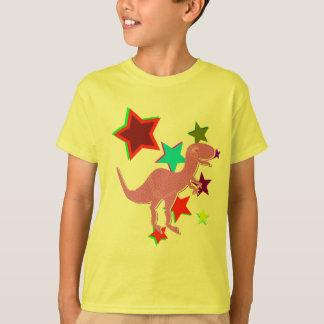 Colora o t-shirt cor-de-rosa do dinossauro de camiseta
