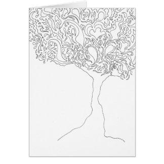 Colora seu próprio cartão - árvore
