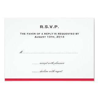 Colora simplesmente a resposta vermelha do rsvp do convite 8.89 x 12.7cm