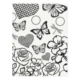 Colora sua própria flor de borboleta do cartão