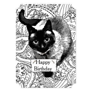 Coloração adulta: Cartão do feliz aniversario com Convite 12.7 X 17.78cm