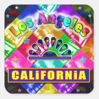 """""""Coloração Los Angeles 4"""" etiqueta Adesivo Quadrado"""