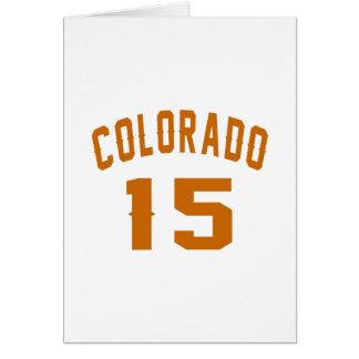 Colorado 15 designs do aniversário cartão