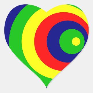 Colorful Adesivo Coração
