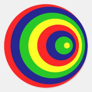 Colorful Adesivo Redondo