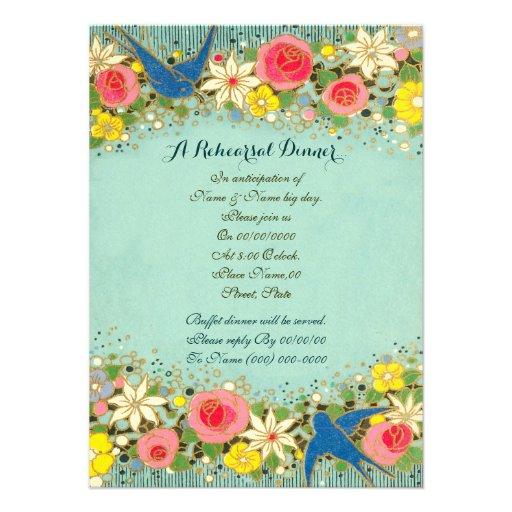 colorfulfloral, jantar de ensaio, ensaio wedding convite personalizados
