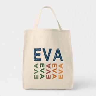 Colorido bonito de Eva Bolsa Tote