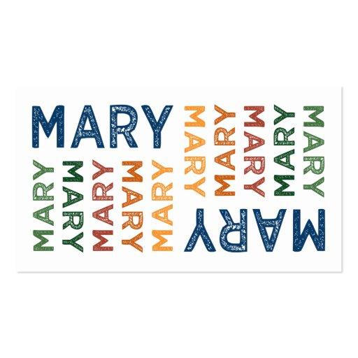 Colorido bonito de Mary Modelos Cartões De Visitas