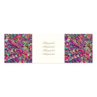 colorido, doodling, arte digital abstrata, cartão de visita skinny