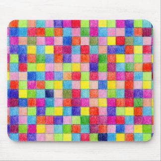Colorido em quadrados do papel de gráfico mouse pad