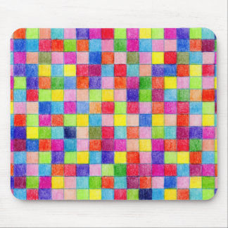 Colorido em quadrados do papel de gráfico mousepad
