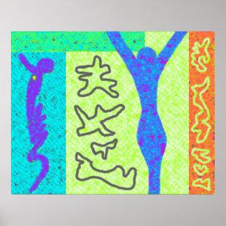Colorido moderno do ~ da arte moderna do ~ da vida pôster