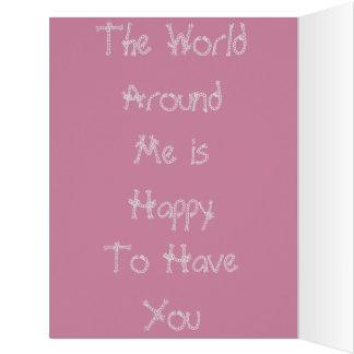 Colorido o mundo em torno de mim cores do feliz cartão comemorativo grande