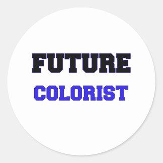 Colorist futuro adesivos redondos