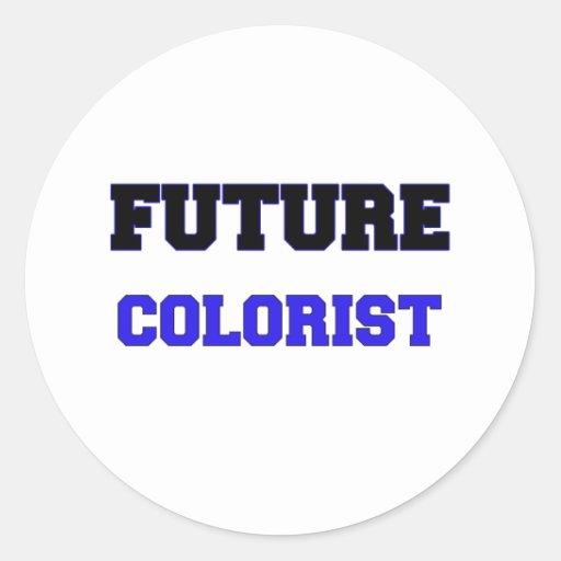 Colorist futuro adesivos em formato redondos