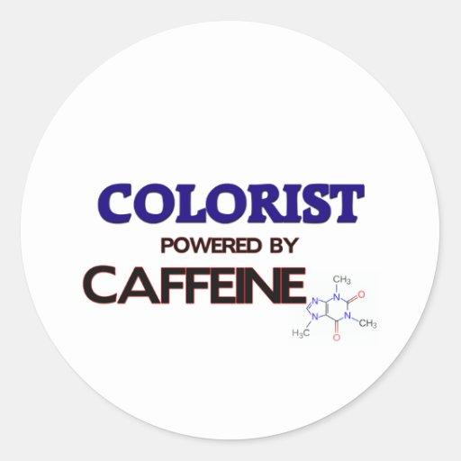 Colorist psto pela cafeína adesivo redondo