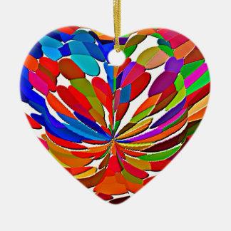 COLORmania LOTUS ColorSHOW abstrato Ornamento De Cerâmica Coração