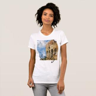 Colosseum na aguarela de Roma Italia Camiseta