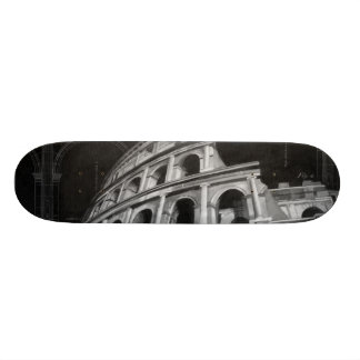 Colosseum romano com desenhos arquitectónicos shape de skate 21,6cm