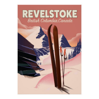 Columbia Britânica de Revelstoke, poster do esqui